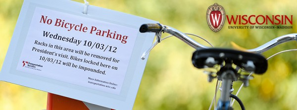 Photo: Bike removal signs