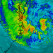 Image: satellite map of Hurricane Sandy