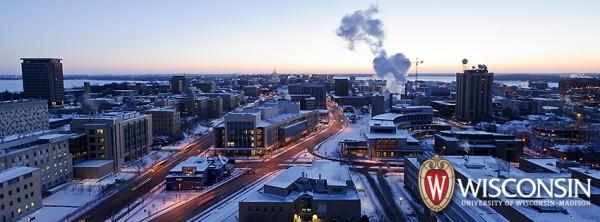 Photo: Campus dawn in winter