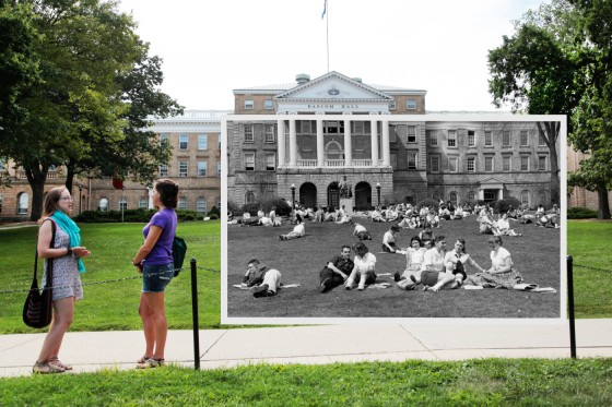 Photo: Bascom then and now