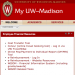 Screen grab of My UW-Madison