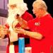 Photo: Bassam Shakhashiri and Santa Claus