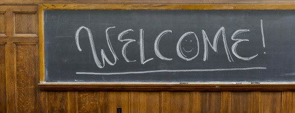 A welcome message is pictured written on a classroom chalkboard during a Student Orientation, Advising and Registration (SOAR) session for incoming first-year undergraduates at Sterling Hall at the University of Wisconsin-Madison on June 22, 2016. Sponsored by the Center for the First-Year Experience, the two-day SOAR sessions provide new students and their parents and guests an opportunity to meet with staff and advisors, register for classes, stay in a residence hall, take a campus tour and learn about campus resources. (Photo by Jeff Miller/UW-Madison)