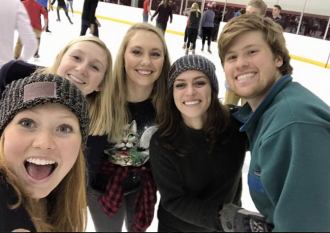 Members of the UW-Madison alpine ski team, from left to right, include Carly Rogers, Shelby Orcutt, Zoey Rugel, Caroline Maahs and Matthew Munts.
